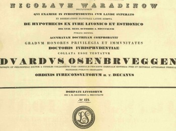 The Contribution of Nikolai Vasilievich Varadinov to the Development of Russian Civil Law and Historical and Legal Research